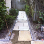 Hard landscaping and conservatory wall, Cheltenham